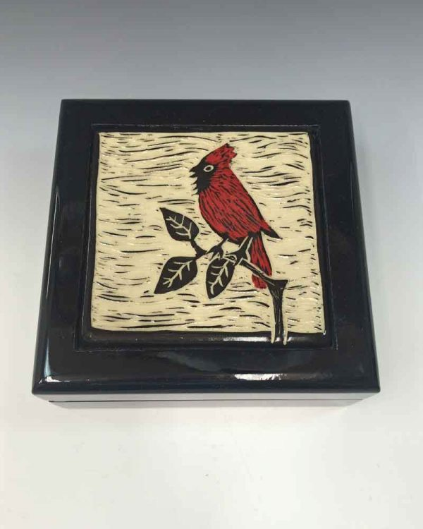 Keepsake Box Cardinal top view