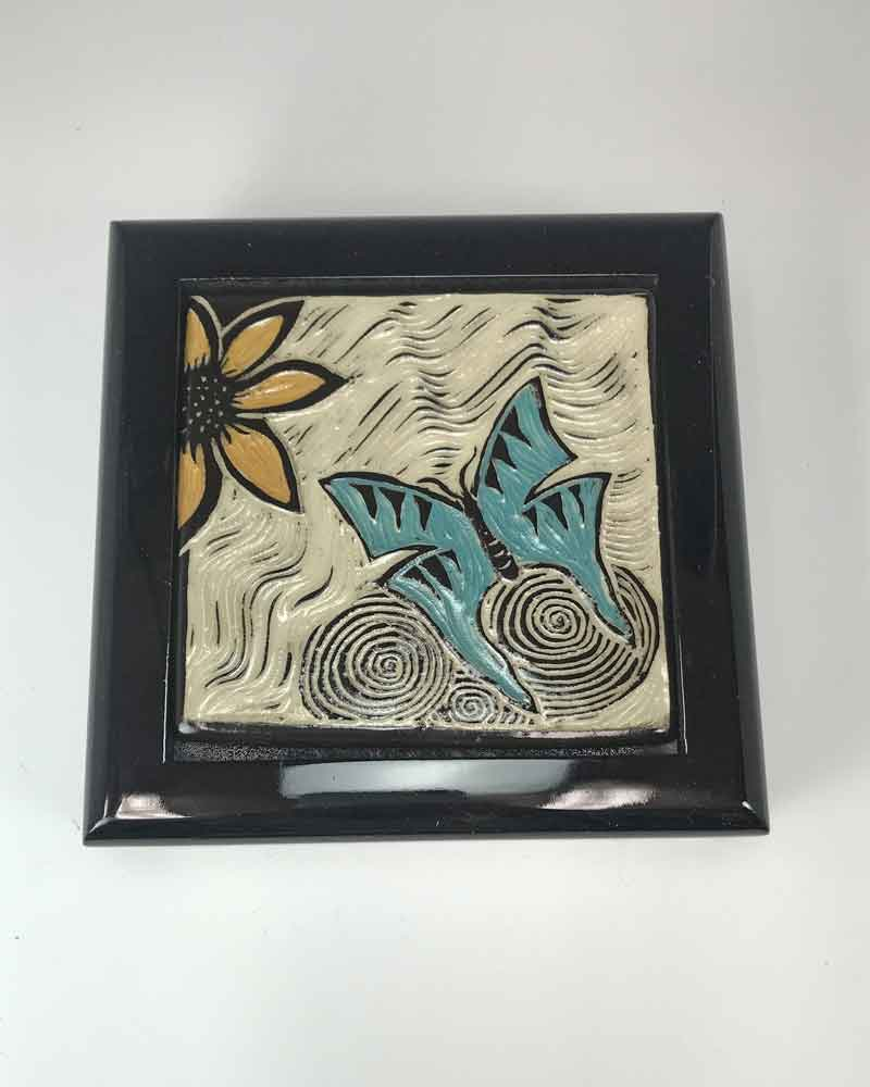 Keepsake Box – Butterfly with color inlay