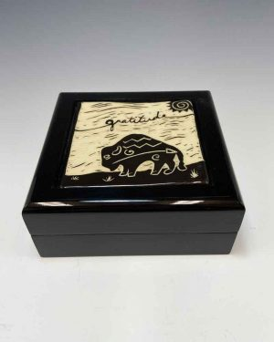 Gratitude Tile Keepsake Box