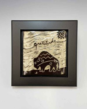 Gratitude Tile in Black frame