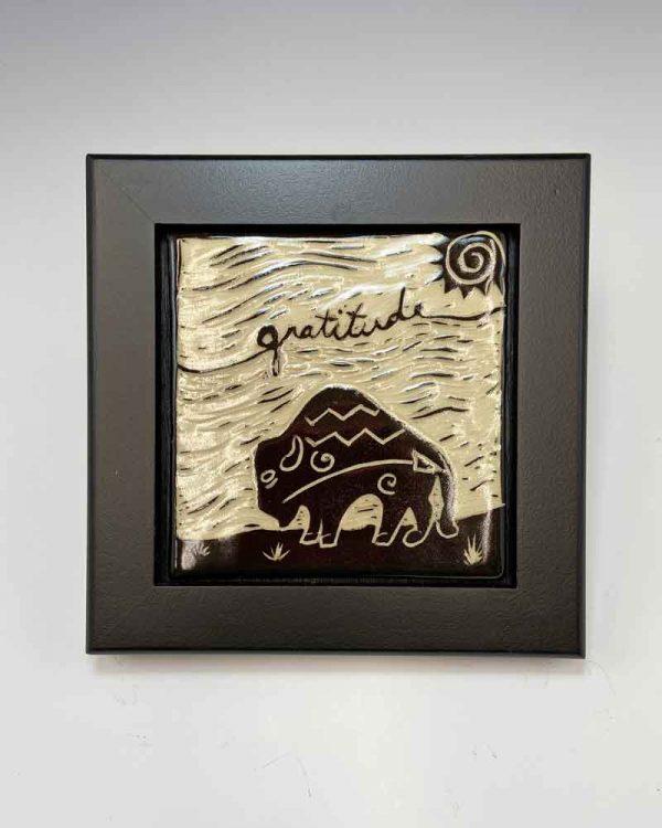 Gratitude Tile in Black frame