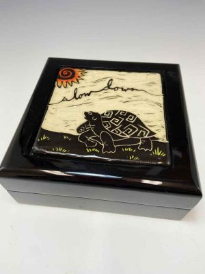 Slow Down Tile Keepsake Box