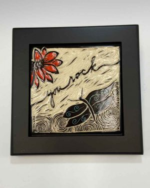 You Rock Tile in Black Frame