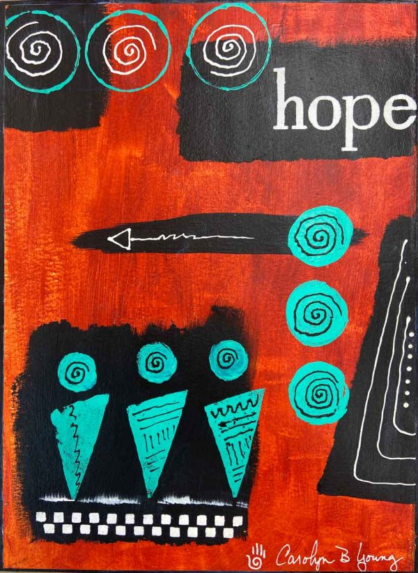 image of inspirational painting titled Let There Be Hope
