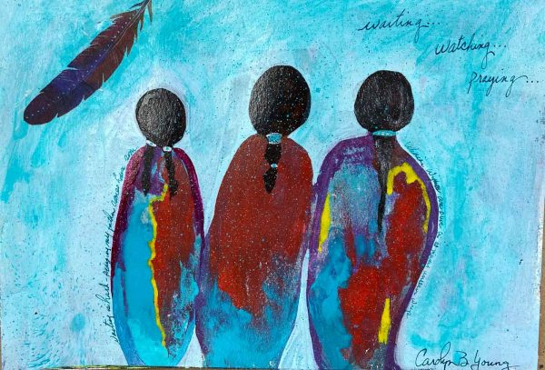 image of Love Waits, a Tribal Women painting