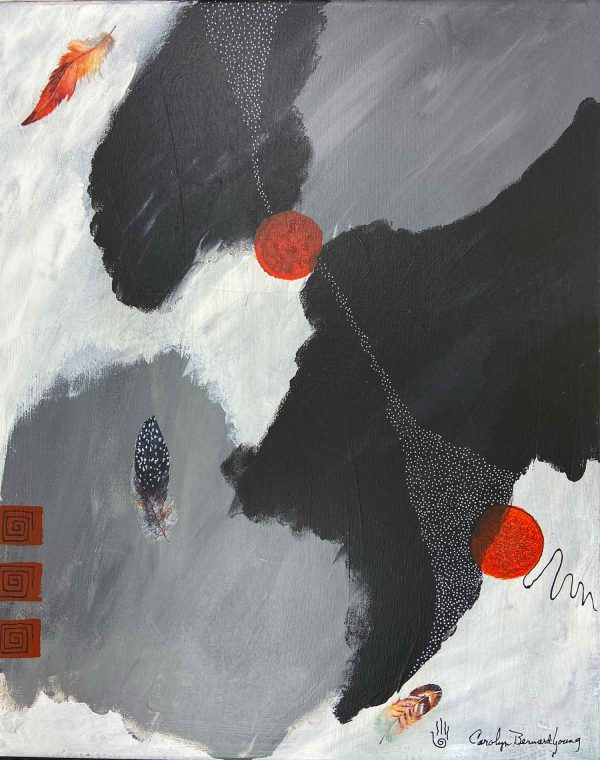 image of Worlds Apart - Connected Still, an abstract tribal painting